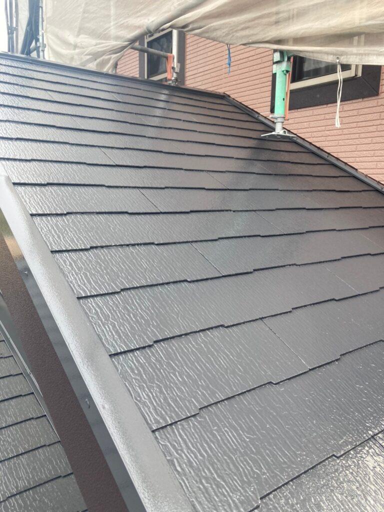 久留米市 屋根上塗りと車庫外壁クリアー塗装 写真5