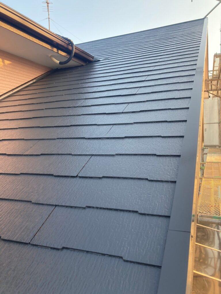 久留米市 屋根上塗りと車庫外壁クリアー塗装 写真6