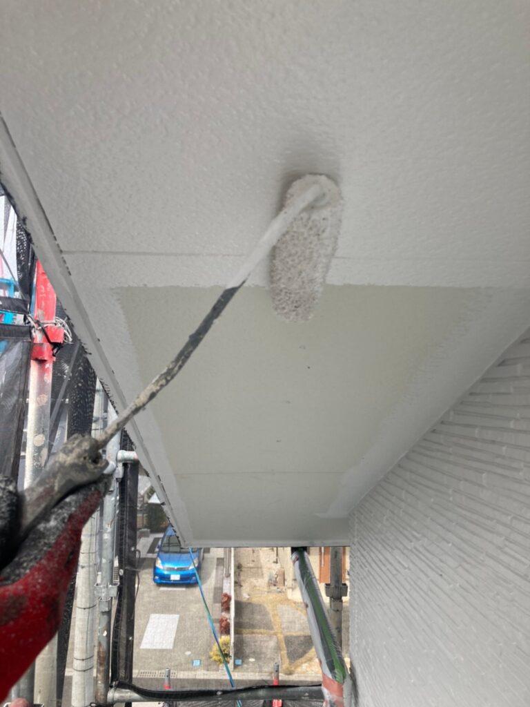鳥栖市 外壁中塗りと軒天塗装 写真16