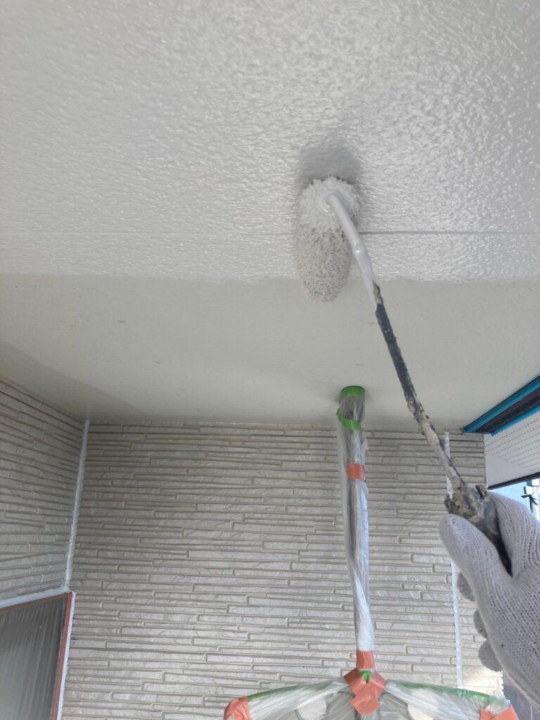 鳥栖市 外壁中塗りと軒天塗装 写真17