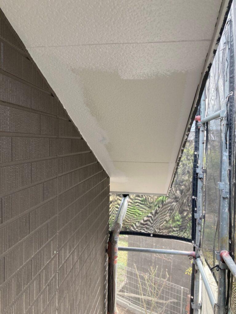 鳥栖市 外壁中塗りと軒天塗装 写真18