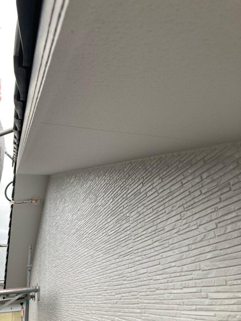 鳥栖市 外壁中塗りと軒天塗装 写真19