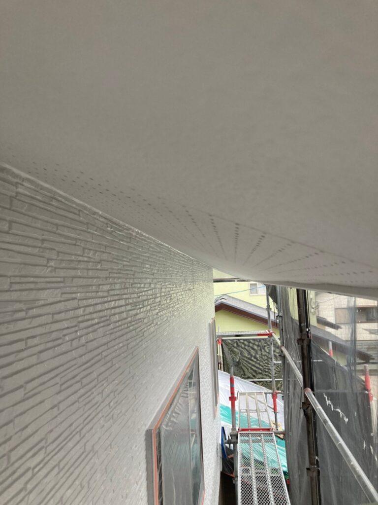 鳥栖市 外壁中塗りと軒天塗装 写真20