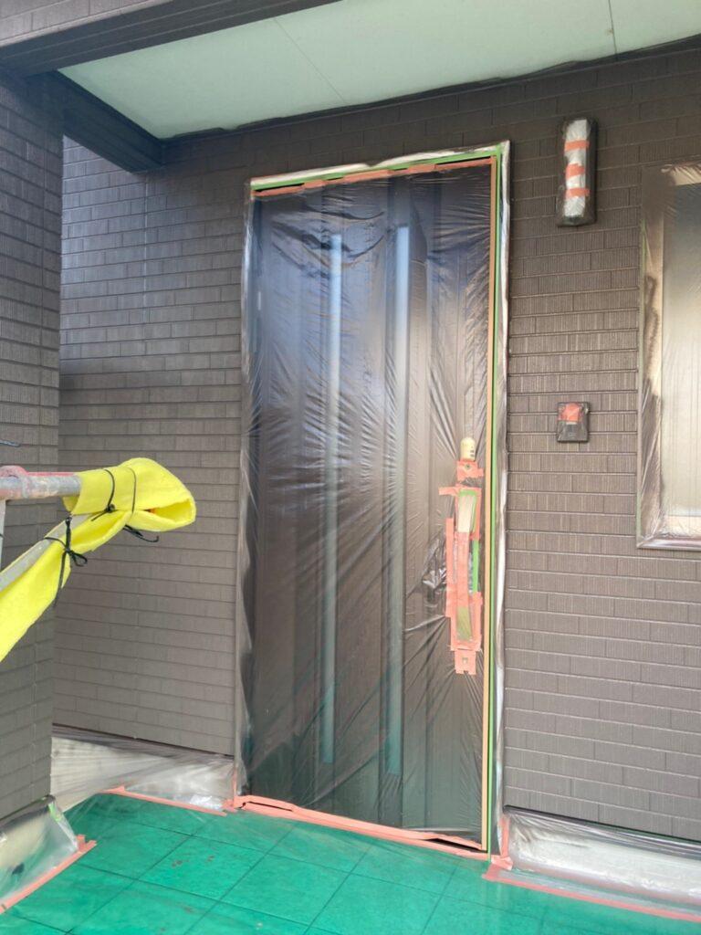 鳥栖市 外壁中塗りと軒天塗装 写真7