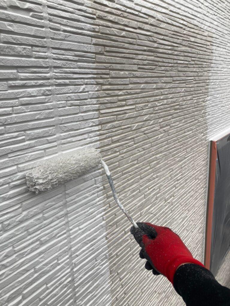 鳥栖市 外壁中塗りと軒天塗装 写真9