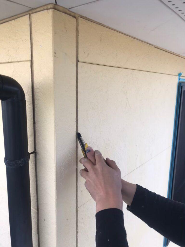 行橋市 コーキング撤去・打ち替え作業 写真1