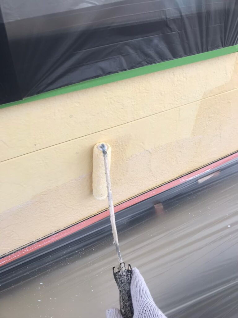 行橋市 軒天塗装と外壁下塗り 写真10