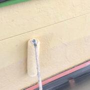 行橋市 軒天塗装と外壁下塗り