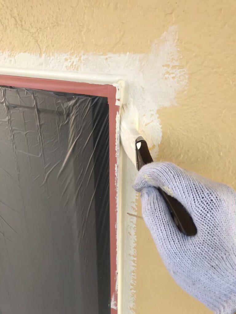 行橋市 外壁中塗りと上塗り 写真2