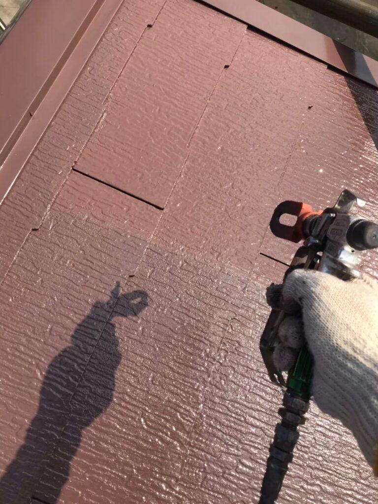行橋市 屋根中塗りと上塗り 写真12
