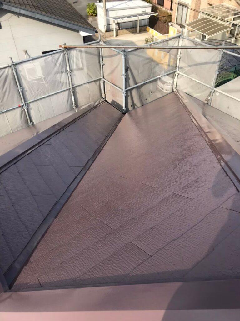 行橋市 屋根中塗りと上塗り 写真16