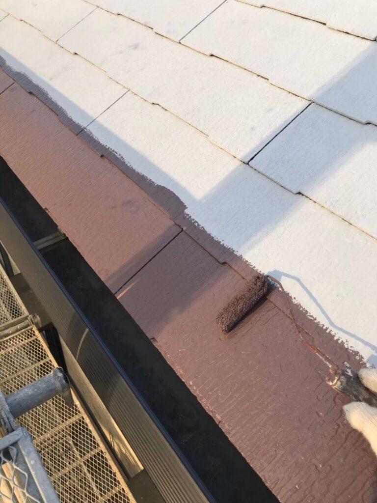 行橋市 屋根中塗りと上塗り 写真2