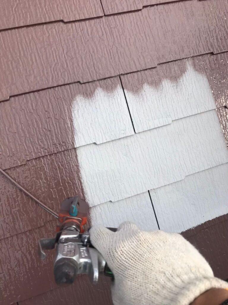 行橋市 屋根中塗りと上塗り 写真3