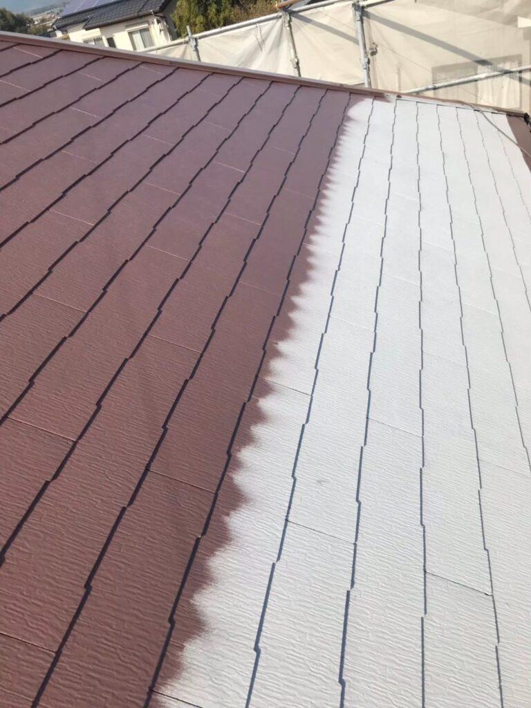 行橋市 屋根中塗りと上塗り 写真4