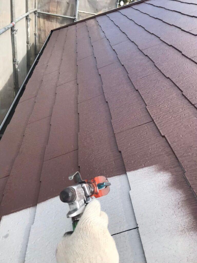 行橋市 屋根中塗りと上塗り 写真6