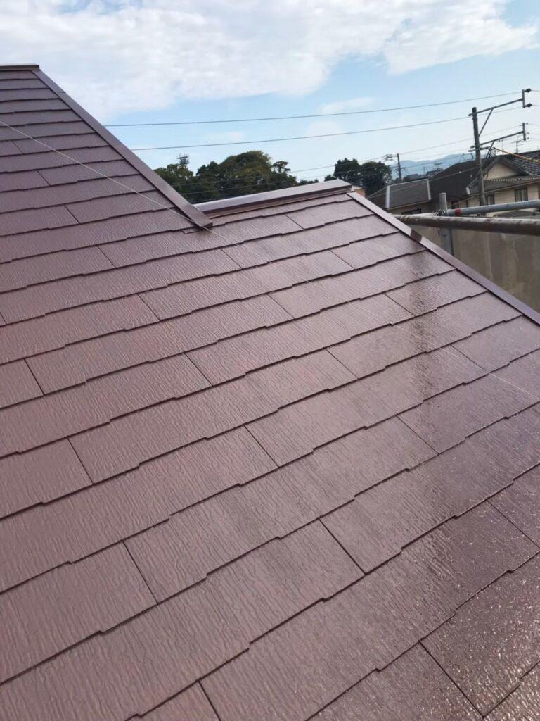 行橋市 屋根中塗りと上塗り 写真8