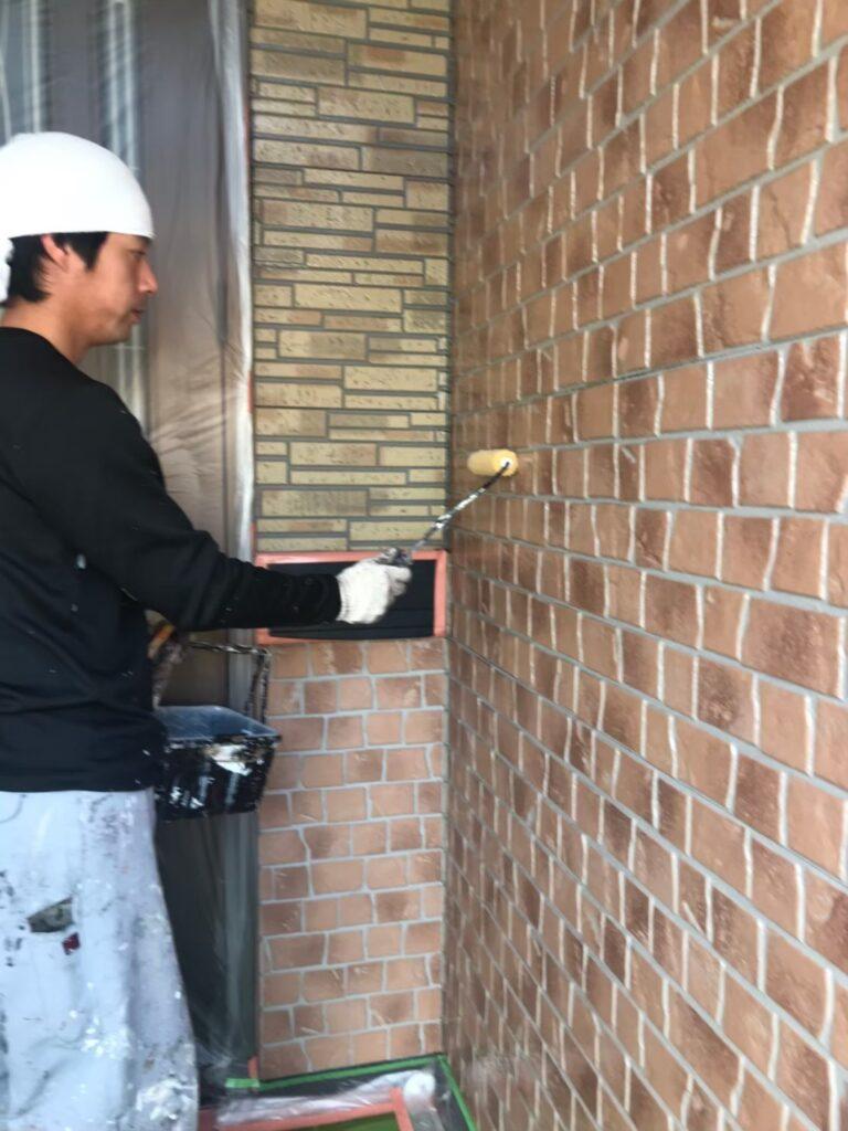 行橋市 1階外壁クリアー塗装 写真2