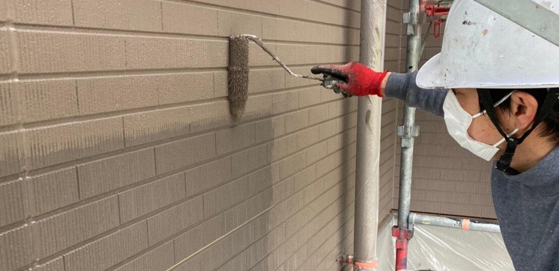 鳥栖市 外壁上塗り