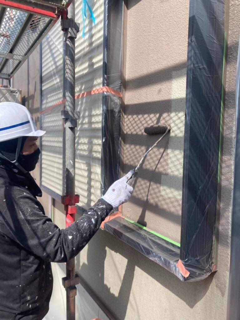 飯塚市 外壁中塗りと屋根ヒビ割れ補修 写真12