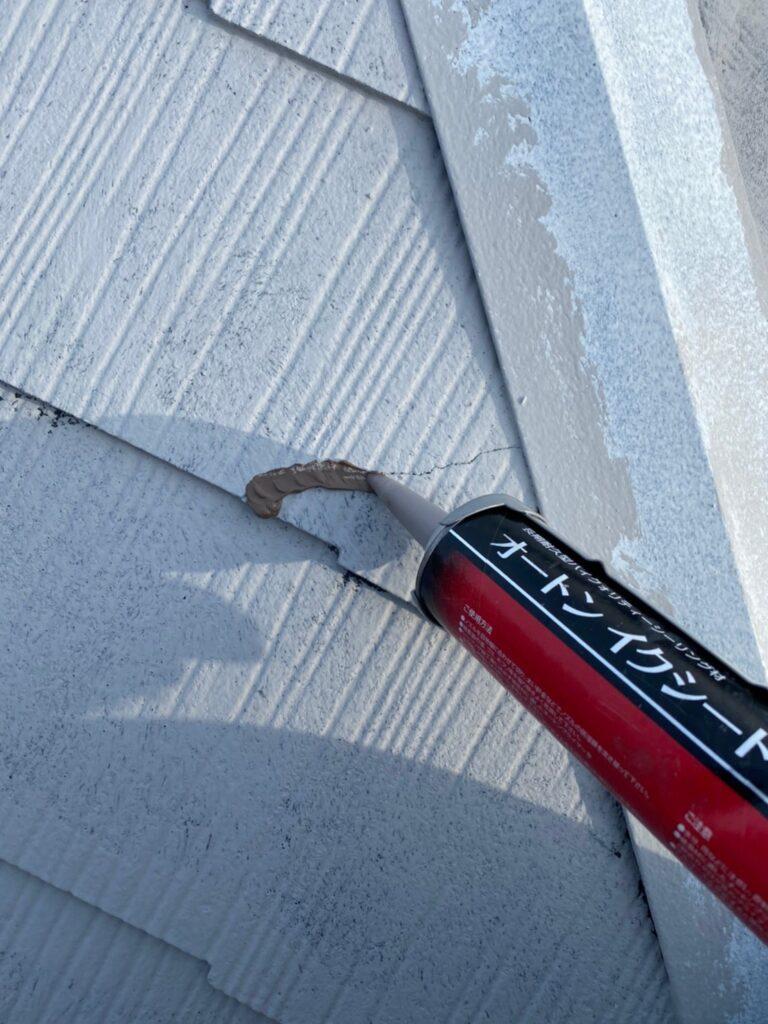 飯塚市 外壁中塗りと屋根ヒビ割れ補修 写真21