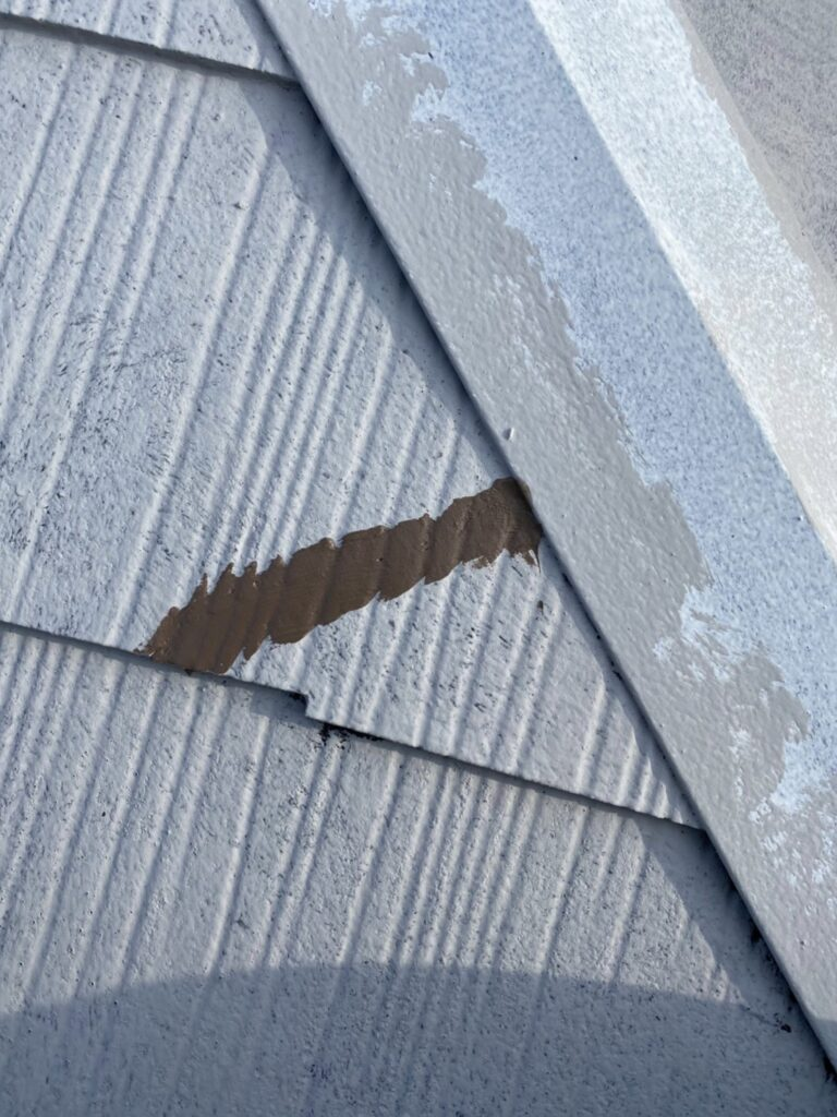 飯塚市 外壁中塗りと屋根ヒビ割れ補修 写真22