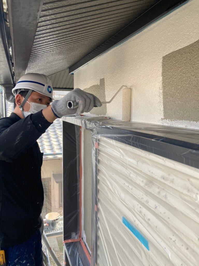 飯塚市 外壁中塗りと屋根ヒビ割れ補修 写真5