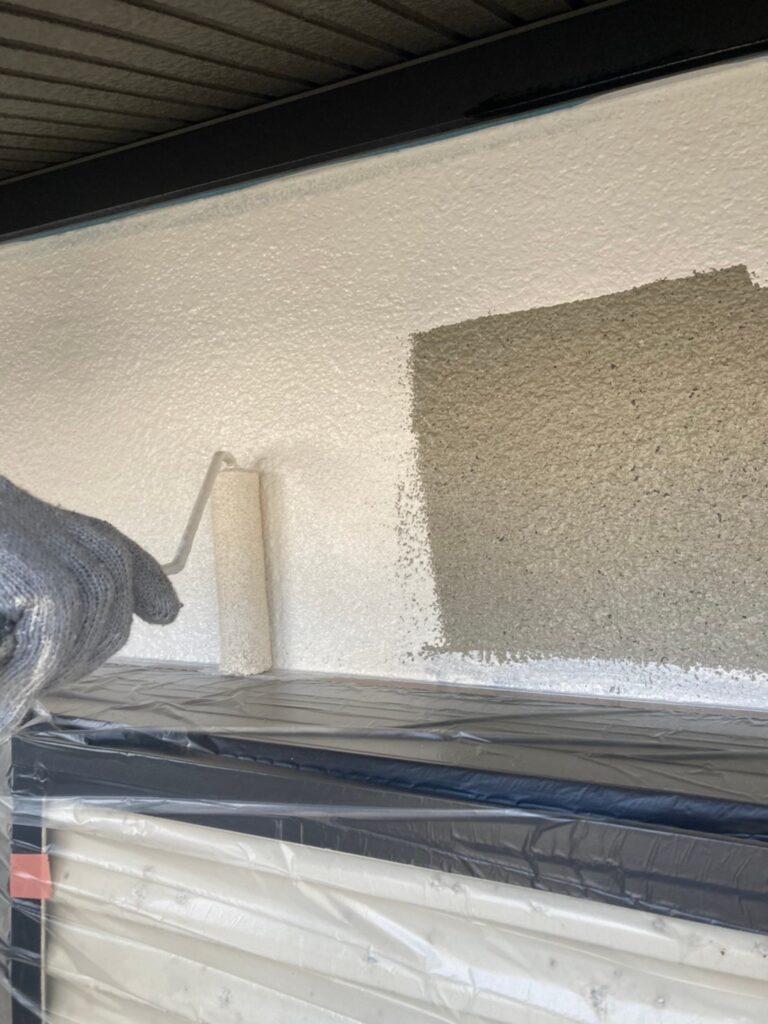 飯塚市 外壁中塗りと屋根ヒビ割れ補修 写真6