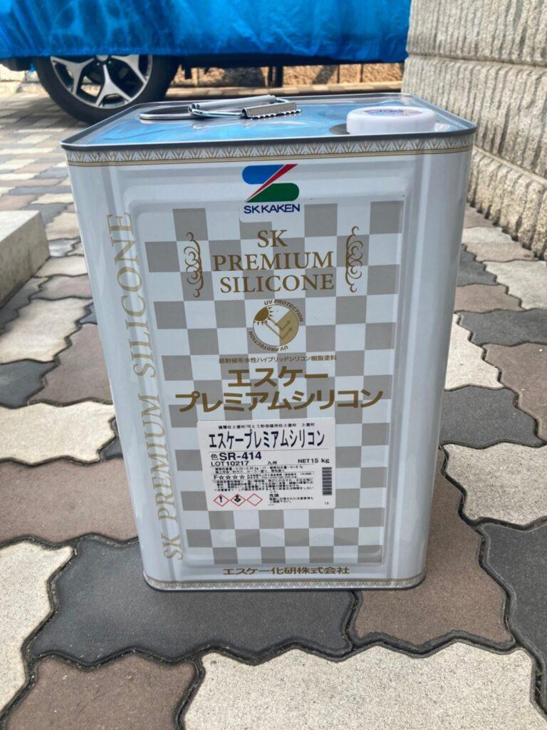 飯塚市 軒天塗装と外壁上塗り 写真13