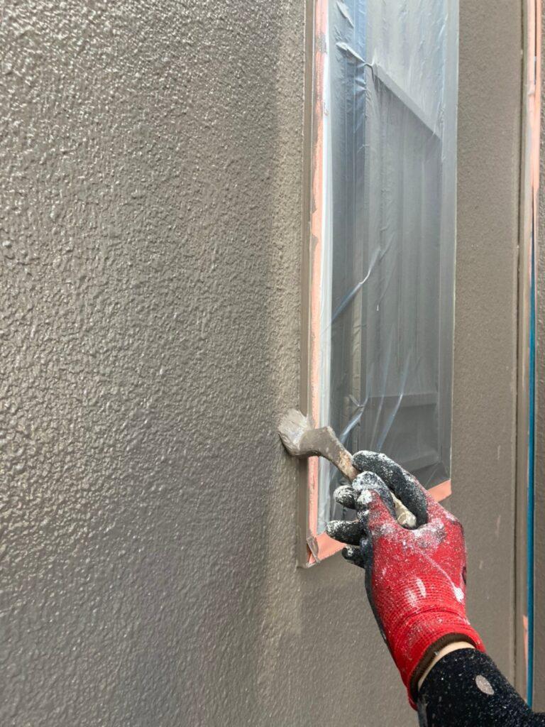 飯塚市 軒天塗装と外壁上塗り 写真14