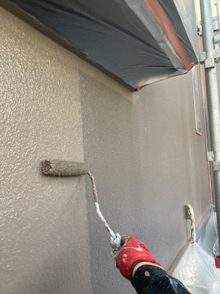 飯塚市 軒天塗装と外壁上塗り 写真16
