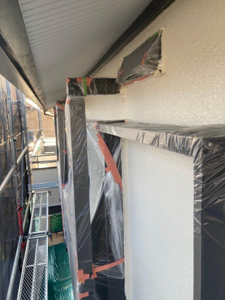 飯塚市 軒天塗装と外壁上塗り 写真19