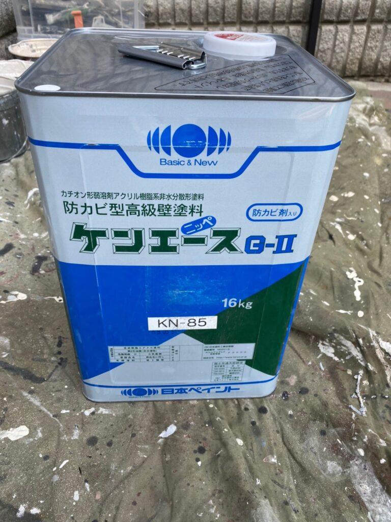 飯塚市 軒天塗装と外壁上塗り 写真2