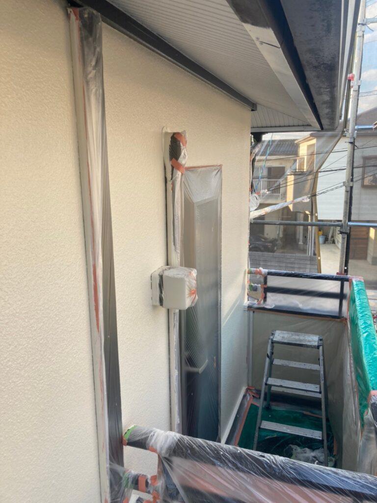 飯塚市 軒天塗装と外壁上塗り 写真20