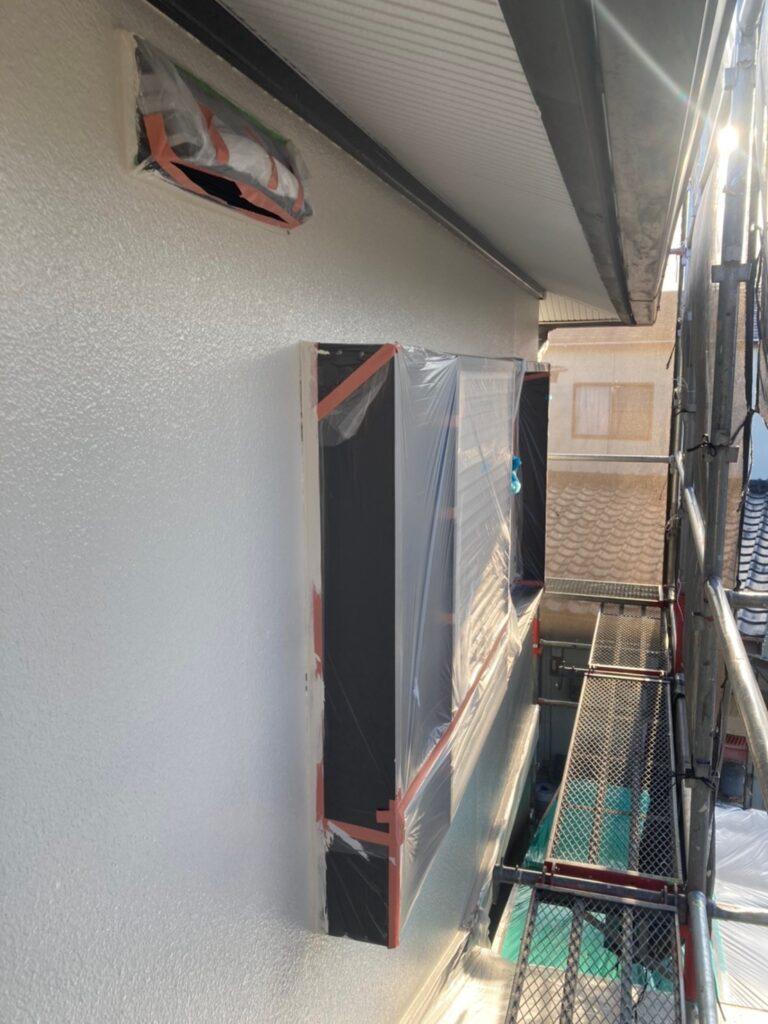飯塚市 軒天塗装と外壁上塗り 写真21
