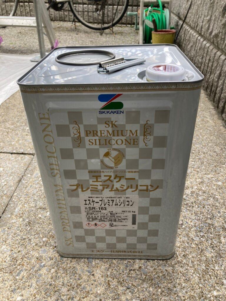 飯塚市 軒天塗装と外壁上塗り 写真8