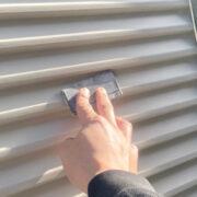 飯塚市 屋根中塗りと雨戸塗装