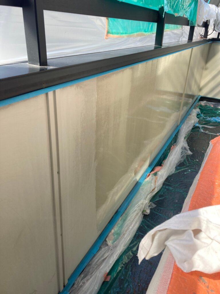 飯塚市 ベランダ内側ボード塗装 写真5