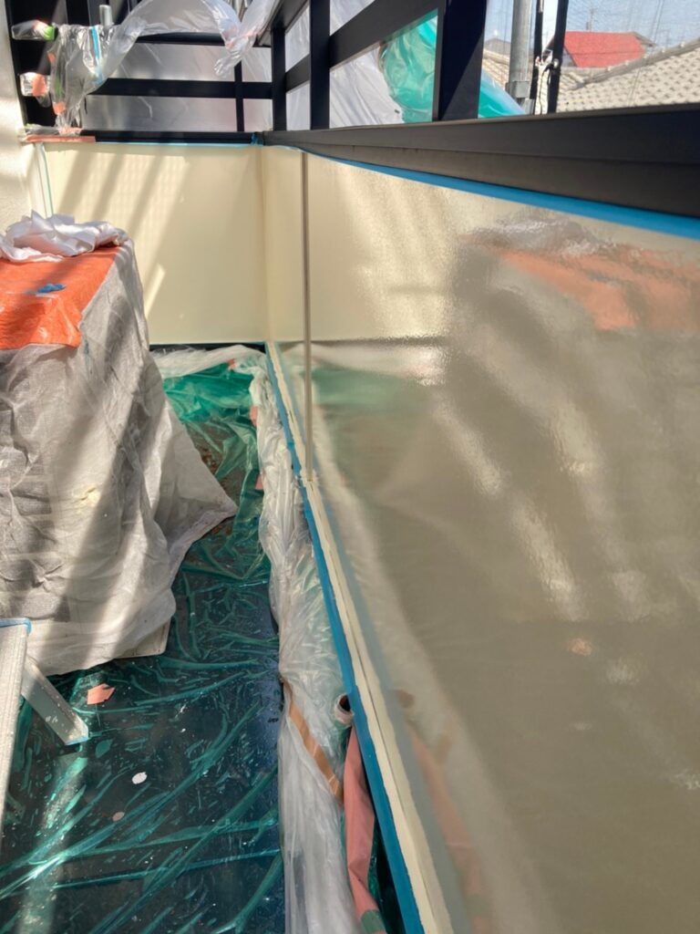 飯塚市 ベランダ内側ボード塗装 写真8