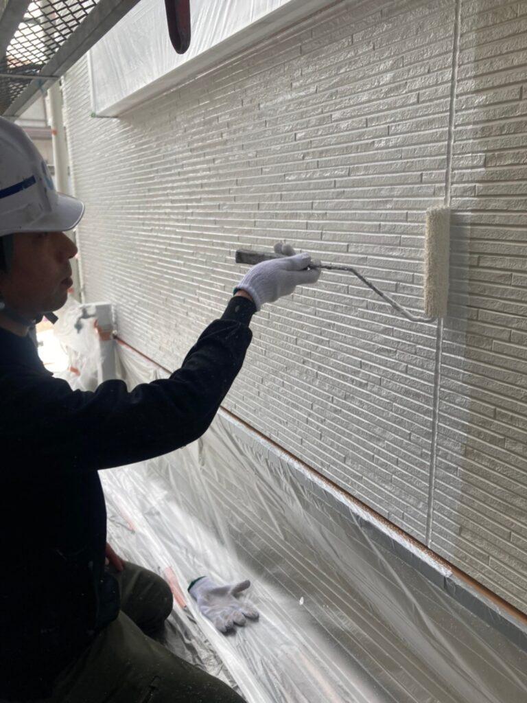 福岡市 軒天塗装と外壁下塗り 写真14