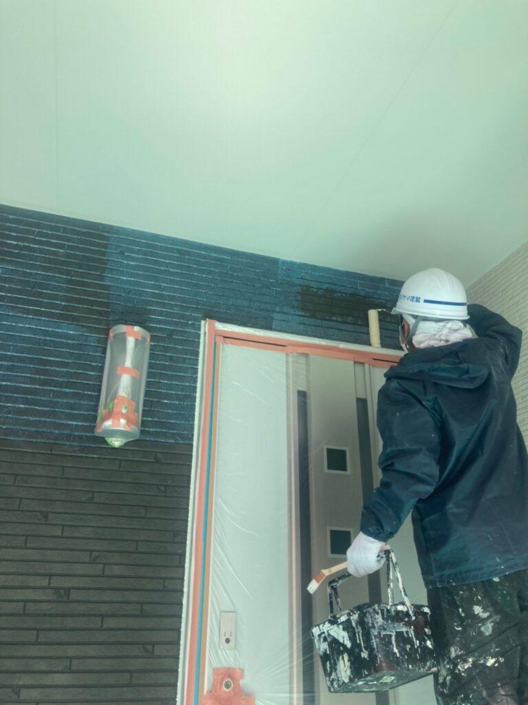 福岡市 軒天塗装と外壁下塗り 写真20