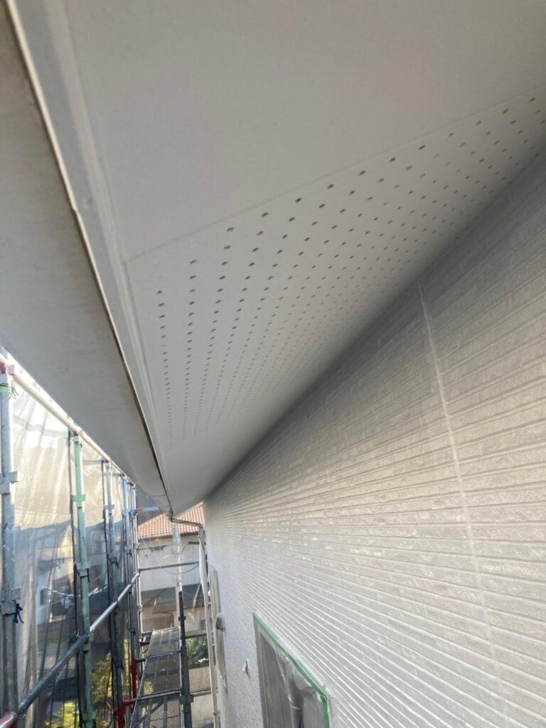 福岡市 軒天塗装と外壁下塗り 写真4