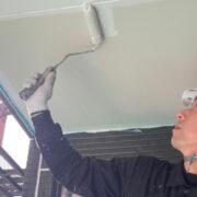 福岡市 軒天塗装と外壁下塗り