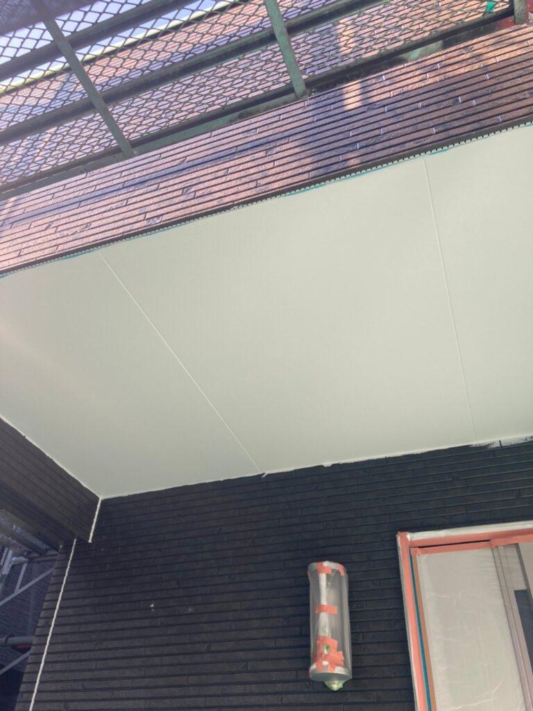 福岡市 軒天塗装と外壁下塗り 写真8