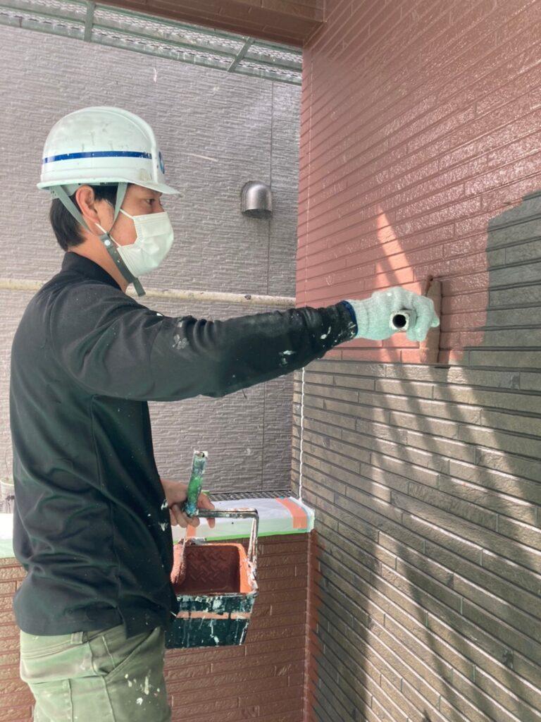 福岡市 外壁中塗り 写真14