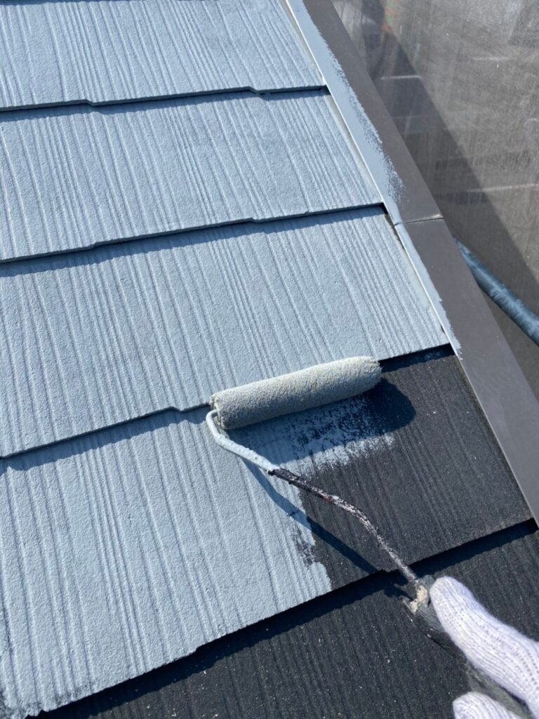 福岡市 外壁上塗りと屋根下塗り 写真13