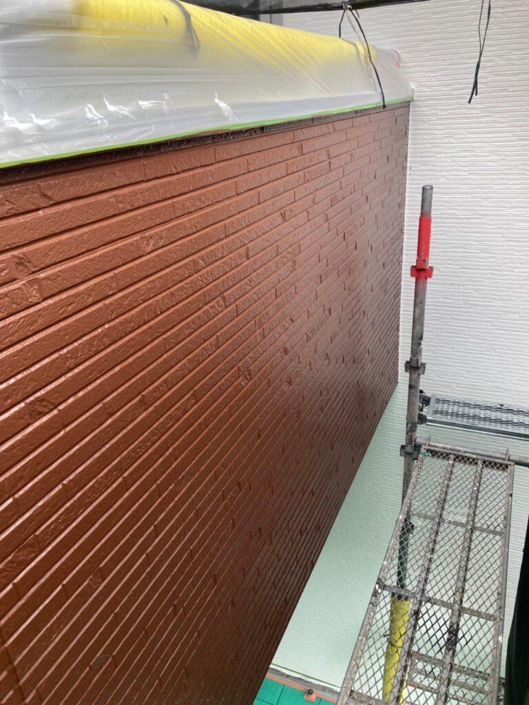 福岡市 外壁上塗りと屋根下塗り 写真6