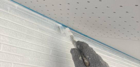 福岡市 外壁上塗りと屋根下塗り