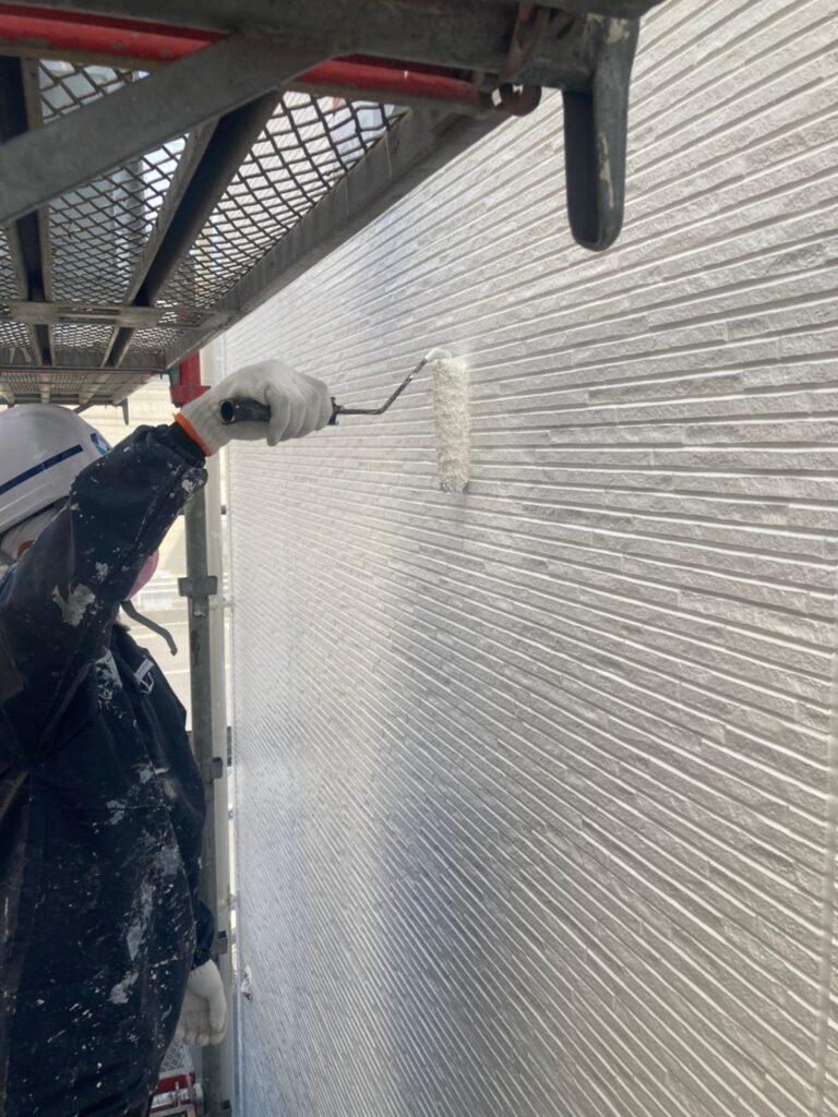 福岡市 外壁上塗りと屋根下塗り 写真8