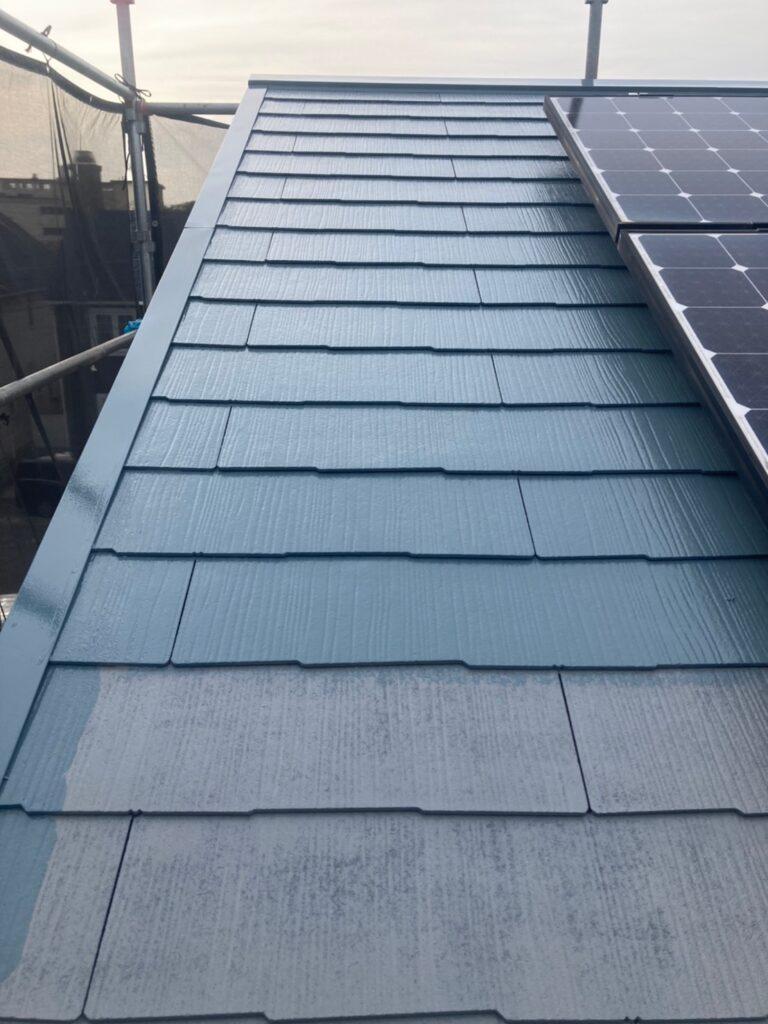 福岡市 屋根の中塗り・上塗りと付帯塗装① 写真3