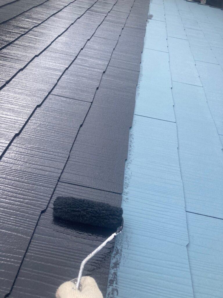福岡市 屋根の中塗り・上塗りと付帯塗装① 写真4